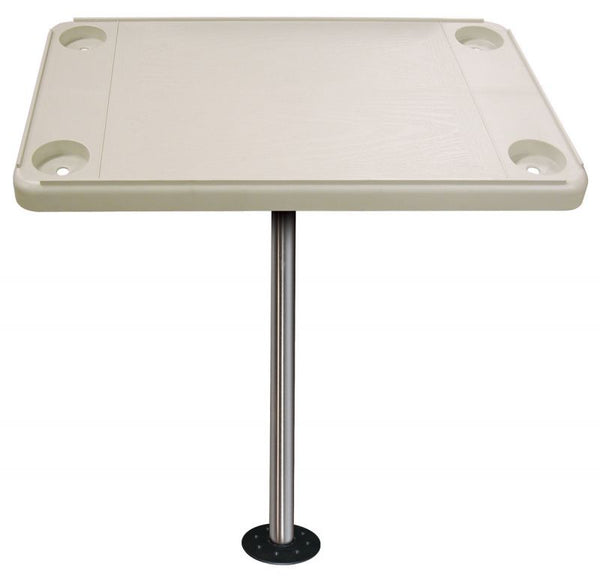 JIF Marine DSH-KS Rectangular Ivory Table Kit With Surface Floor Mount