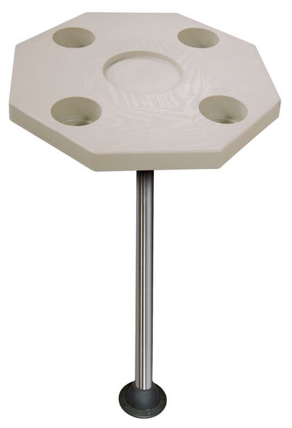 JIF Marine DSH-KS Rectangular Ivory Table Kit With Surface Floor Mount - Essenbay Marine