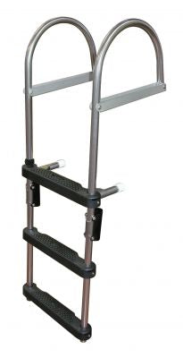 JIF Marine EPZ3 3 Step Pontoon Transom Boarding Ladder - Essenbay Marine