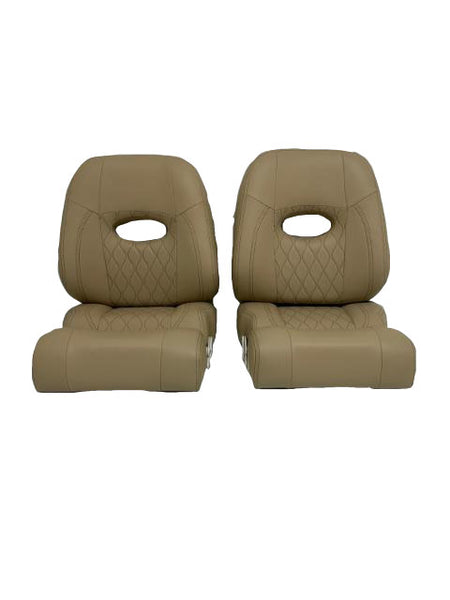 Brown Helm Seat - Essenbay Marine