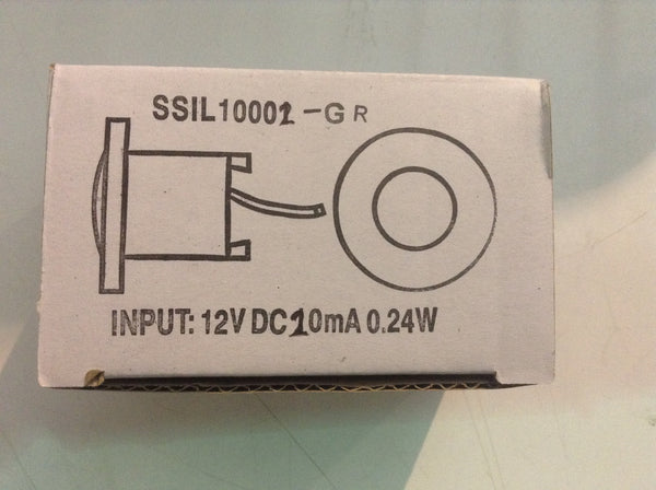 "Courtesy Light 1 5/8"" 12V Green (SSIL10002-GR)"