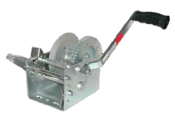 JIF Marine W2000DS 2000lb Trailer Winch One Piece Solid Gear / Winch & Strap - Essenbay Marine