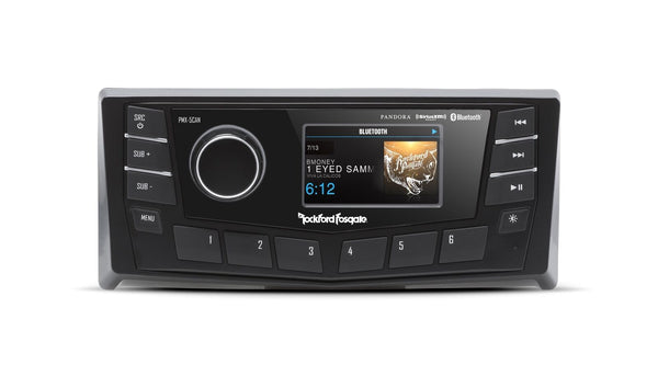 "Rockford Fosgate PMX-5CAN Punch Marine AM/FM/WB Digital Media Receiver 2.7"" Disp - Essenbay Marine"