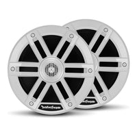 Pair Rockford Fosgate M0-65 Weatherproof Full Range Marine 6.5-Inch Speakers, White - Essenbay Marine
