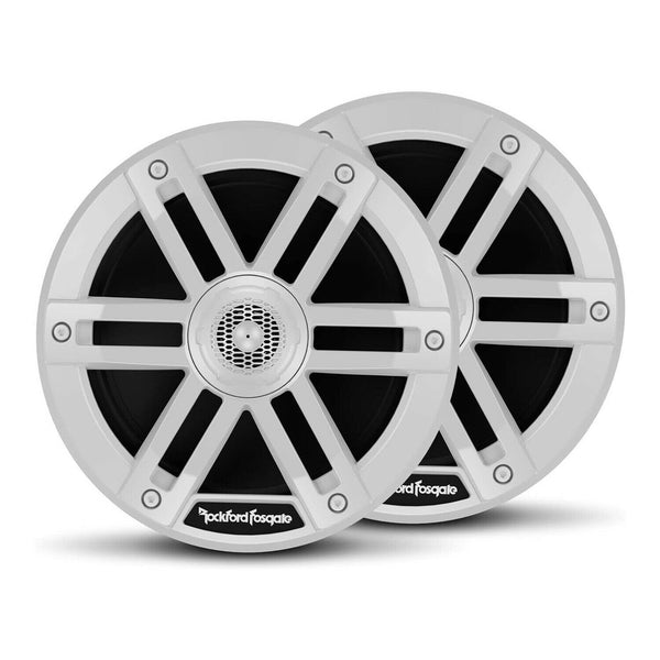 Pair Rockford Fosgate M0-65 Weatherproof Full Range Marine 6.5-Inch Speakers, White