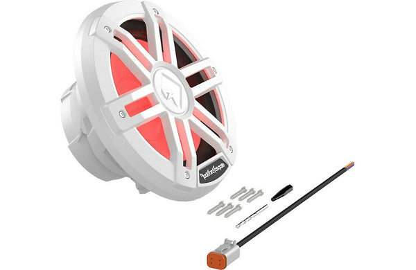 "Rockford Fosgate M1D2-8 M1 Series 8"" Marine Sub RGB LED lighting (White)"
