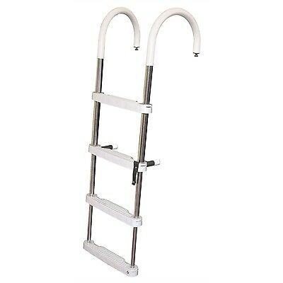 JIF Marine DUF4 4 STEP Telescoping Pontoon Ladder - Essenbay Marine