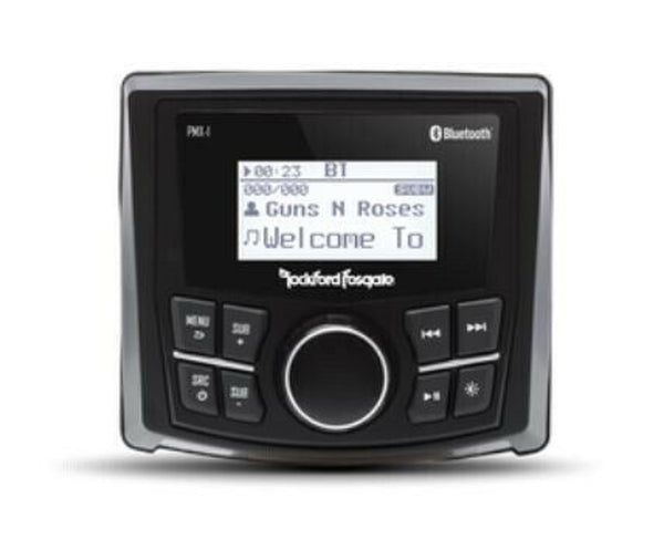 "Rockford Fosgate PMX-1 Digital Media Marine Receiver w/ 2.3"" Dot Matrix Display - Essenbay Marine"