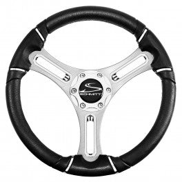 "Schmitt Torcello Wheel 04 Series - All Polyurethane w/Chrome Rim Trim, 3/4"" Tapered Shaft  PU043141-12 - Essenbay Marine"