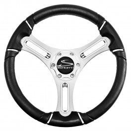 "Schmitt Torcello Wheel 04 Series - All Polyurethane w/Chrome Rim Trim, 3/4"" Tapered Shaft  PU045141-12 - Essenbay Marine"