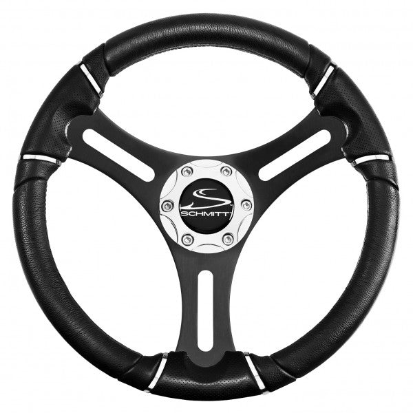 "Schmitt Torcello Wheel 04 Series - All Polyurethane w/Chrome Rim Trim, 3/4"" Tapered Shaft  PU041141-02 - Essenbay Marine"