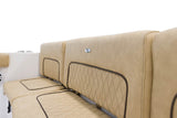 Sportsman Boats 231CC Rear Bench Backrest Cushions 3 Piece Set Tan - Essenbay Marine