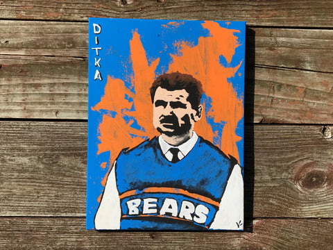 """Da Coach"" 9x12 ORIGINAL Canvas"
