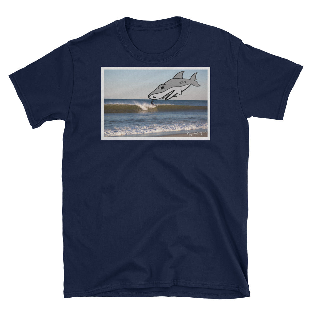 """The Shark Still Looks Fake"" Short-Sleeve Unisex T-Shirt"