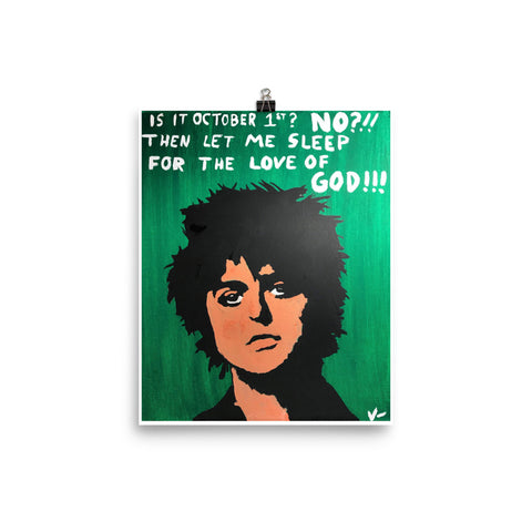 """Sleeping The Green Day Away"" Print"