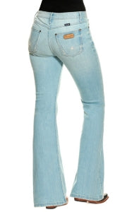 Wrangler Retro Women's Paige Light Wash High Rise Flare Jeans