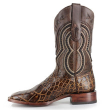 Load image into Gallery viewer, Corral Men's Brown Alligator Wide Square Toe