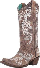 Load image into Gallery viewer, Corral Ladies Brown/White Embroidery