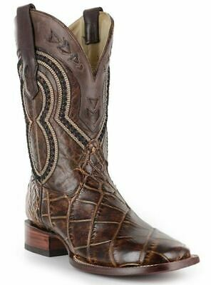 Corral Men's Brown Alligator Wide Square Toe