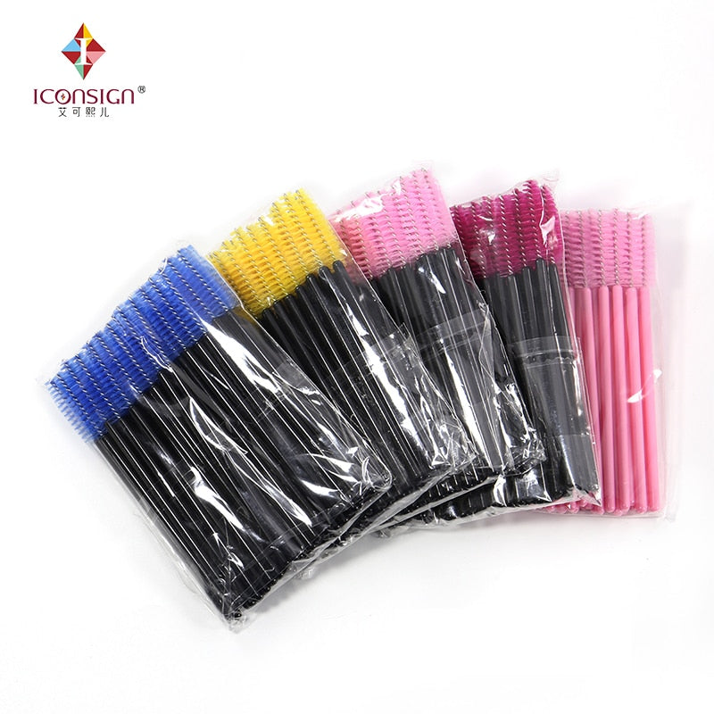 Eyelash Brush Wands (50 pieces) - IconSignOfficial