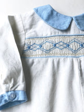 Load image into Gallery viewer, Ivory Cord Smocked Romper