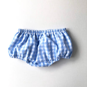 Blue Gingham Diaper Cover