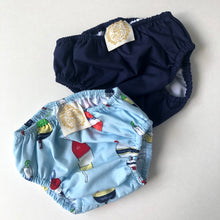 Load image into Gallery viewer, Navy Swim Diaper Cover