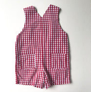Red Gingham Overalls