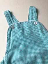 Load image into Gallery viewer, Teal Gingham Sunsuit
