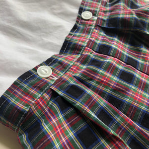 James & Lottie Plaid Button On
