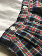 Load image into Gallery viewer, James & Lottie Plaid Button On