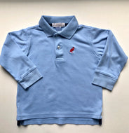 Long Sleeve Blue TBBC Polo