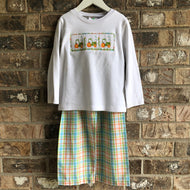 Smocked Tractor Pant Set