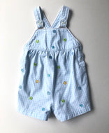 Beach Shell Gingham Overalls