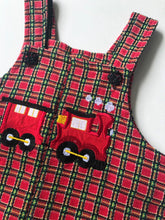 Load image into Gallery viewer, Plaid Train Romper