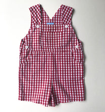 Load image into Gallery viewer, Red Gingham Overalls