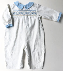 Ivory Cord Smocked Romper