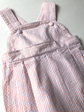 Load image into Gallery viewer, Orange Seersucker Sunsuit