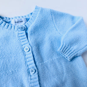 Crochet Blue Sweater