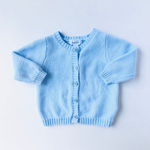 Load image into Gallery viewer, Crochet Blue Sweater