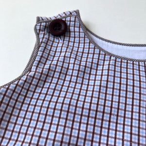 Blue/Brown Plaid Bubble