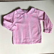 Pink Gingham Peter Pan Shirt