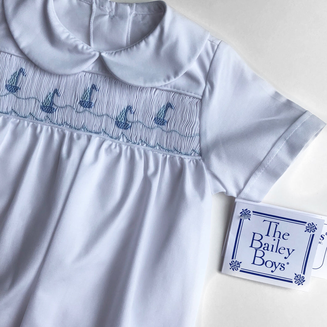 Smocked Sailboat Gown