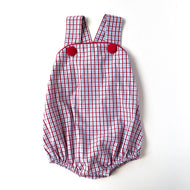 Blue/Red Plaid Sunsuit