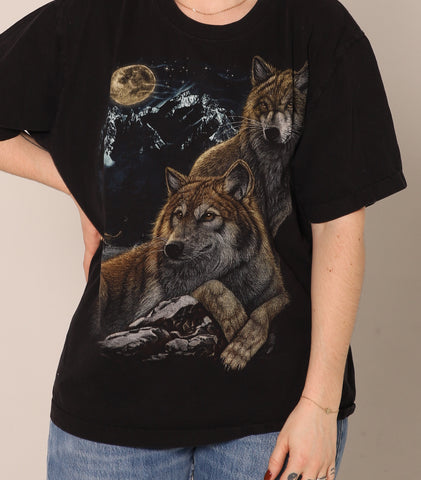 T-shirt Moon Wolves
