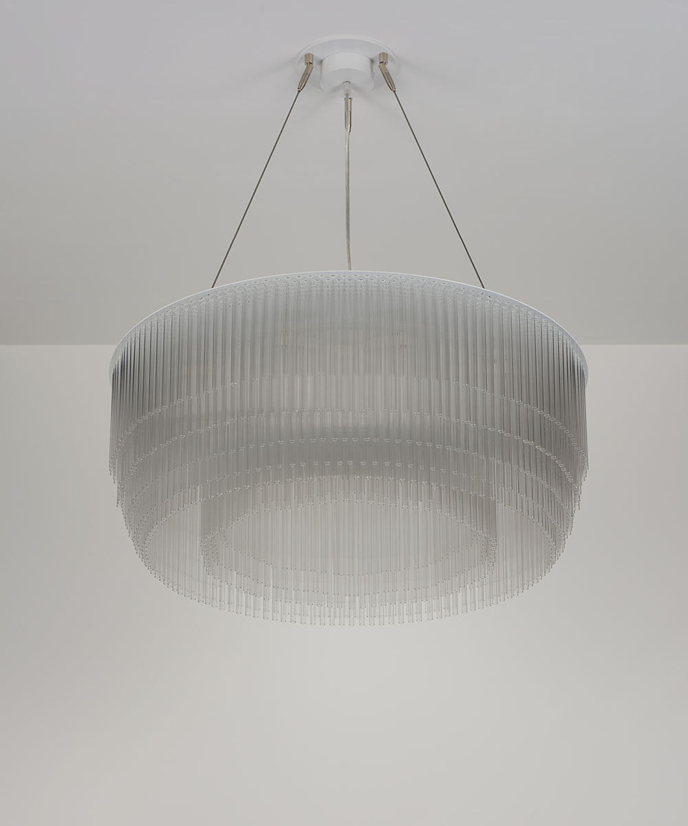 rings white finished chandeliers LED circle modern