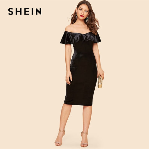 Elegant black party dress