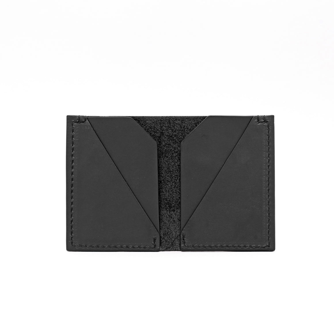 DOUBLE POCKET FOLD WALLET IN BLACK
