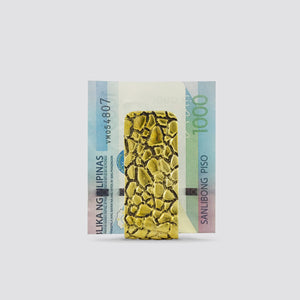 REPTILE PATTERN MONEY CLIP (YELLOW)