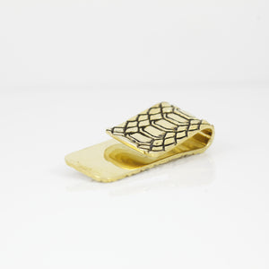 SNAKE SKIN PATTERN MONEY CLIP (YELLOW)